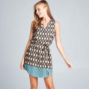 ReneeC. Women's Trendy Sleeveless Twill Mini Dress